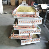 耐腐蚀冷干机蒸发器 翅片制冷式蒸发器 冷干机蒸发器-厂家直销 热线电话13928665967